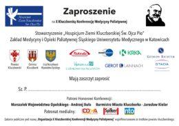 Zapraszamy na jubileuszową X Kluczborską Konferencję Medycyny Paliatywnej